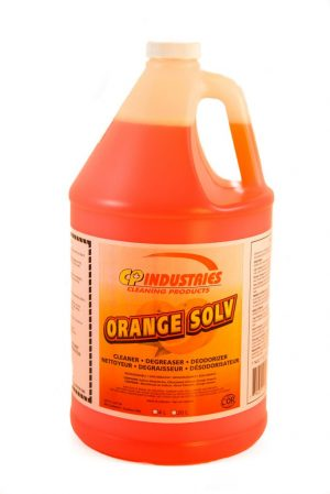 Orange Solv is highly concentrated.  A formulation that is low foaming and an extremely effective grease-cuter.