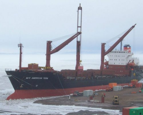 The ice class vessel was on monthly service to Antarctica for 5 years, 9 months and showed only 1/2 percent hull damage.